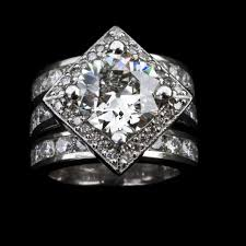 rings custom wedding images Custom designed engagement ring with matching wedding bands jpg