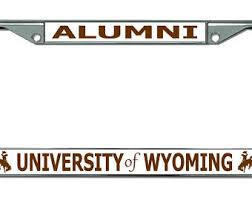 byu alumni license plate frame yale white alumni chrome license plate frame