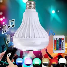 bluetooth music light bulb ac rgb led bulb wireless bluetooth light music stereo speaker l