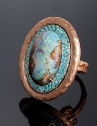 turquoise opal engagement rings the best blues in engagement rings