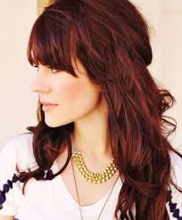 brunette hairstyle with lots of hilights for over 50 red brown highlights long brown reddish hair color long hair
