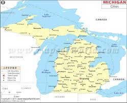 map of michigan cities in michigan michigan cities map