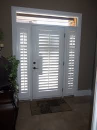 Single Patio Door White Shutter Blinds For Swing Single Patio Doors Combined With