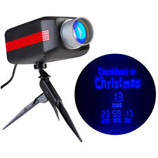 gemmy lightshow lightshow led projection countdown to christmas in blue 12666