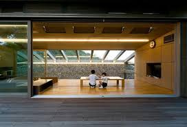 modern japanese house design interior glass roof for minimalist