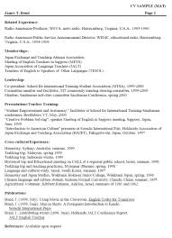 sample of resume for abroad sample resume for english teacher in japan frizzigame examples of resumes sample cv resume for teaching job example