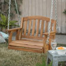 details about wooden garden swing single porch hanging chair