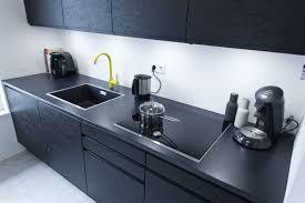 lofty ideas matt schwarze kuchen küche modern schwarz weiß bill steward