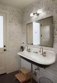bathroom with wallpaper ideas 287 best wallpapered bathroom images on bathrooms half