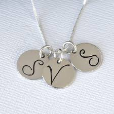 3 initial monogram necklace silver giving initial necklace as birthday prize svapop wedding