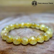yellow quartz bracelet images Gold rutilated quartz bracelet the mala tree jpg