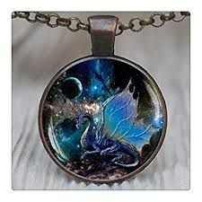 dragon jewelry necklace images Glowlalablue dragon pendant blue dragon necklace jpg