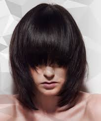 graduated layered blunt cut hairstyle graduated concave layered long bob haircut tutorial video