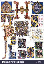 romanesque ornament in italy illuminations stock photo royalty