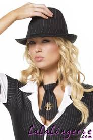 Mobster Halloween Costumes Leg Avenue Pinstriped Gangster Fedora Gangster Costumes