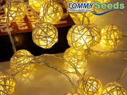 warm white string fairy lights rattan ball led string fairy lights christmas tree ornaments xmas