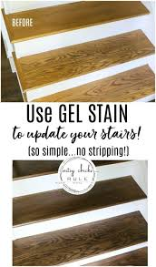 what is the best gel stain for kitchen cabinets update stairs with gel stain so simple artsy rule