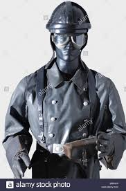 motorcycle suit a luftwaffe motorcycle suit a black leather crash helmet with