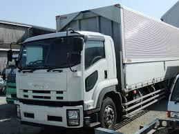 truck van file isuzu forward white truck van body full cab short type