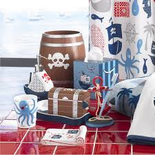 accessories for boys bathroom with pirate theme kids bathroom