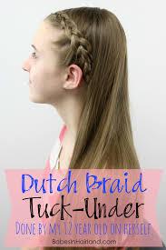 when a guys tuck hair ears means diy dutch braid tuck under hairstyle for teens and tweens