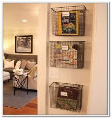 Bathroom Wall Baskets Wall Storage With Baskets Home Design Ideas