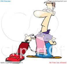 royalty free rf clip art illustration of a cartoon vacuuming