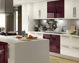Design Kitchen Accessories Contemporary Aubergine Kitchen Accessories With White Kitchen