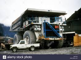 caterpillar 797b dump truck operating at pt freeport indonesia u0027s
