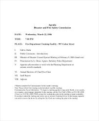 12 safety meeting agenda templates u2013 free sample example format