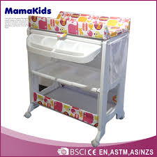 Changing Table With Bath Tub Europe Style Plastic Baby Changing Table Baby Folding Bathtub