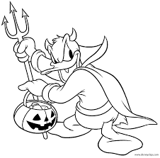 interesting design ideas disney halloween coloring pages kids