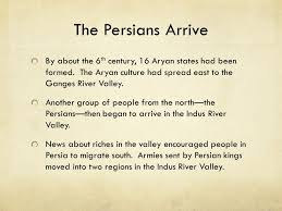 india and persia indus river valley civilization people began to