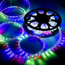 gothobby 50 ft rgb multi color 2 wire led rope light