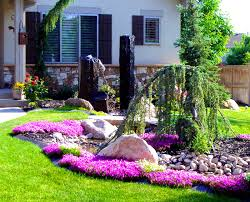 bedroom charming ideas about front yard landscaping out grass
