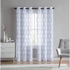 Arlee Home Fashions Curtains Arlee Home Fashions Cloister Ombre Embroidered Grommet Panel Pair