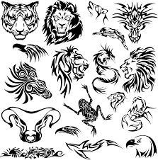 tribal animal tattoos stencil designs tattooshunt com clip art