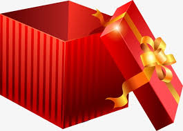 painted red gift box open pattern hand painted red gift png and