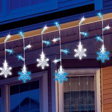 snowflake icicle light set lights home