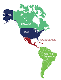 Central And South America Blank Map by Zim Americas International Shipping Companies Shipping Agents