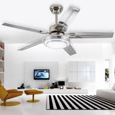 Ceiling Fan Living Room by Colorled Modern Simple Three Changing Color Stainless Steel Led