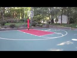Backyard Tennis Courts by Full Court Basketball Court For The Backyard Youtube