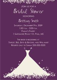 Wedding Quotes From Bible For Invitation Card Purple Bridal Shower Invitations Purple Bridal Shower
