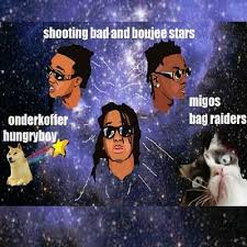 Migos Meme - bad and boujee stars migos lil uzi vert vs bag raiders