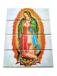 religious tile mural our lady of guadalupe mosaic zoom