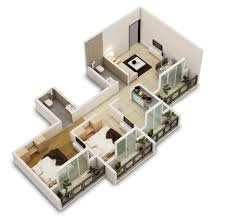 2 Bhk Home Design Plans by 25 Two Bedroom House Apartment Floor Plans