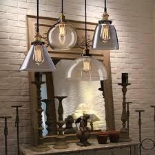 Pendant Lights Glass Half Globe Vintage Industrial Ceiling Lamp Glass Pendant Lighting