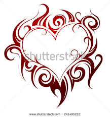 flaming heart tattoo stock images royalty free images u0026 vectors