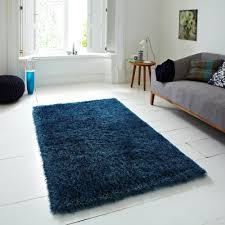 monte carlo hand made shaggy rug blue from rugshop uk vista
