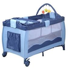 Folding Baby Bed Kids Baby Crib Playpen Playard Pack Travel Infant Bassinet Bed